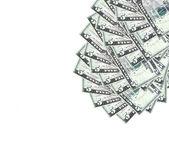 Dollar på vit bakgrund. — Stockfoto