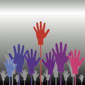 Hands looking for help — Stock Vector