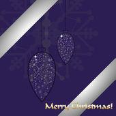 Merry Christmas celebration card design. — Stock Vector