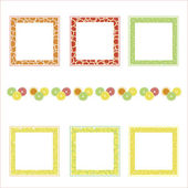 Vector frames with fruit — Vector de stock