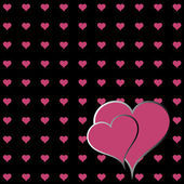 Hearts background. — Stock Vector
