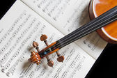 Violin and musical notes — Stockfoto