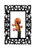 Violin framed — 图库照片
