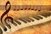 Pianokeyboard and Hymn of the European community — Stock Photo