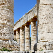 Details of the ancient theater of Segesta, Italy — Stock Photo