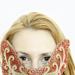 Girl with mask for carnival — Stockfoto