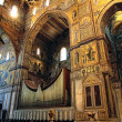 Interior of the Cathedral of Monreale, Sicily, Italy. — Stock Photo