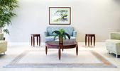 Interior con muebles de pintura y acento — Foto de Stock