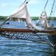 Ancient ship in Discovery Harbour in Penetanguishene, Canada. — Stock Photo #31932123