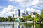 Eola Lake in downtown Orlando, Florida — Stock Photo