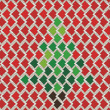 Christmas tree on Vector pattern — Stock Photo