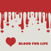 Krev, která kape a srdce — Stock vektor