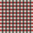 Checkered tablecloth — Stock Vector