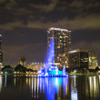 Eola Park in the night, Orlando, Florida. — Stock Photo
