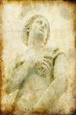 Statue of woman in Piazza Pretoria, Palermo, Italy — Stock Photo