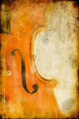 Violin on grunge background — Stock Photo