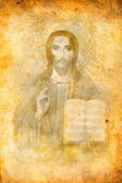 Religious icon on grunge background — Stockfoto