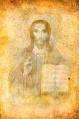Religious icon on grunge background — Stok fotoğraf