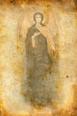 Religious icon on grunge background — Stock Photo