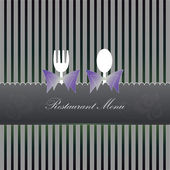 Restaurant Menu on vector background — Stock Vector