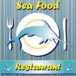 Stock Vector: Sea Food Restaurant background