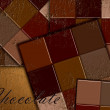 Chocolate background and texture — Stock Photo