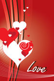 San Valentine greetings on vector background — Vector de stock
