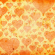 Hearts on Grunge background — Foto Stock
