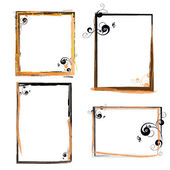 Abstract frames on vector background — Stock Vector