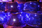 Hats decorated with sequins. — Stock Photo