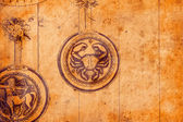 Zodiac signs on grunge background. — Stock Photo