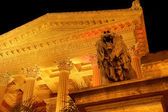 Theater Massimo in Palermo by night, Italy — Stock Photo