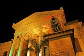 Theater Massimo in Palermo by night, Italy — Photo
