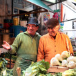 Stock Photo: Sellers of fruit and vegetables at market Ballaro, Sicily, Italy.