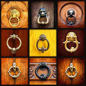 Collage of door knocher — Stock Photo