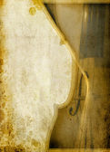 Violin partial on grunge background — Zdjęcie stockowe
