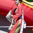 Stock Photo: Miss Vietnam 2014 in Orlando FloridUS- Chinese New Year February 9, 2014