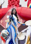Miss Vietnam 2014 in Orlando Florida USA - Chinese New Year February 9, 2014 — Stock Photo