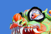 Chinese dragon on blue background — Foto Stock