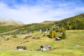 Village in the Livigno Valley , Italy — Stock Photo