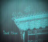 Oriental temple withe texture, illustration — Stock Photo