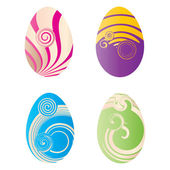 Set of decorated eggs , vector illustration — Stock Vector
