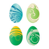 Set of decorated eggs , vector illustration — Vector de stock