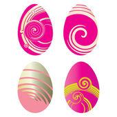 Conjunto de huevos decorados, ilustración vectorial — Vector de stock
