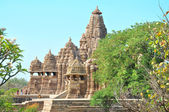 Kandariya Mahadeva Hindu Temple at Khajuraho in the Madhya Pradesh region of India. — Stock Photo
