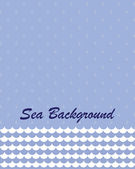 Sea background , vector illustration — Stock Vector