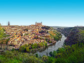 Panoramic view of Toledo and Alcazar, Spain — Stock Photo