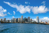 Miami view from the ocean — Stock Photo