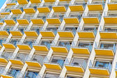 Apartments with balconies — Stock Photo
