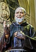 Padre Pio statue, Church of San Domenico, Palermo — Stock Photo